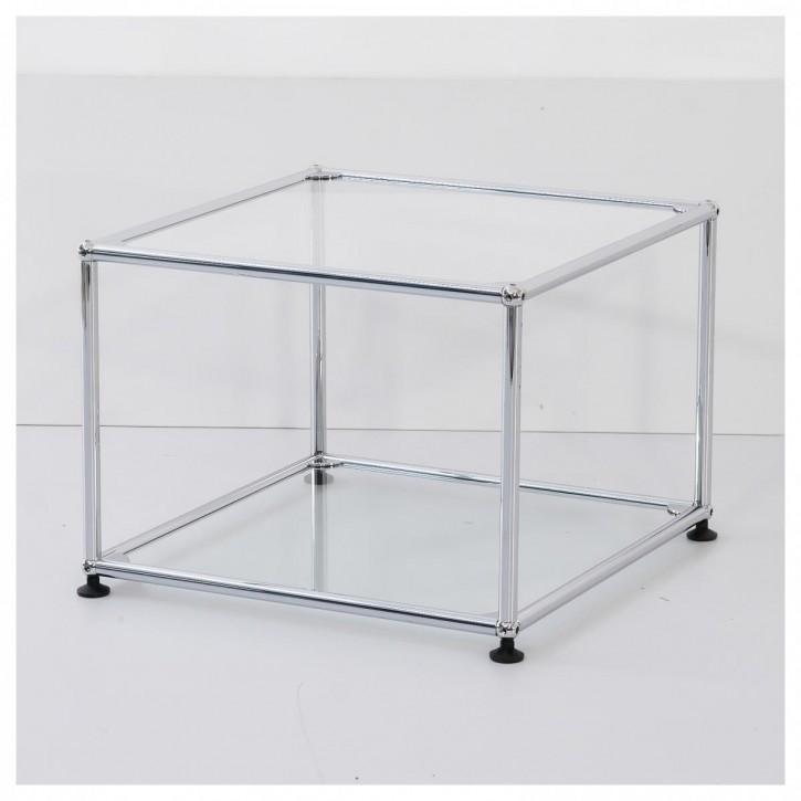 USM HALLER - Beistelltisch mit Glastablaren