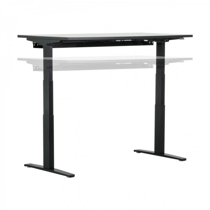 JET RE 2020 - elektrisch höhenverstellbarer Schreibtisch | schwarz