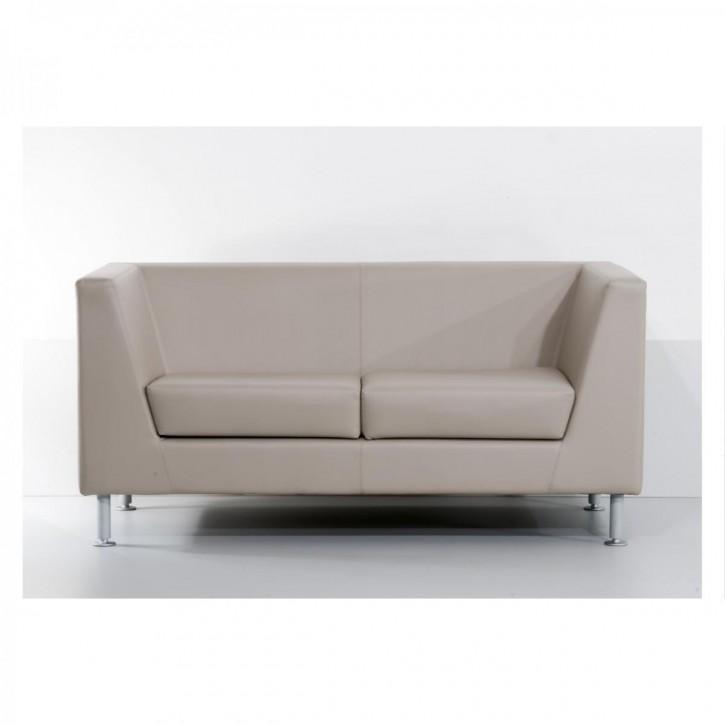 Ares Line Naxos - Sofa mit Lederbezug / 2-Sitzer