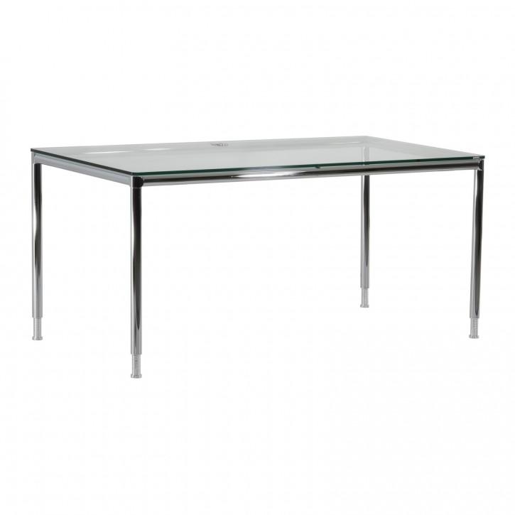 """BOSSE """"S-DESK"""" - Schreibtisch mit Glasplatte"""