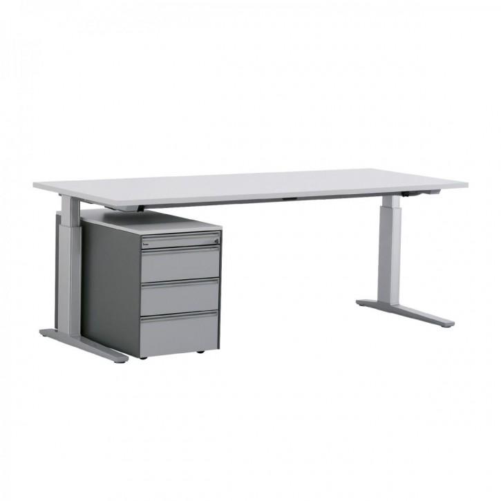 """BENE """"T-WORK"""" - Schreibtisch mit Rollcontainer"""