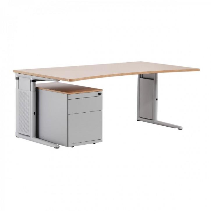 STEELCASE - höhenverstellbarer Schreibtisch, Arbeitstisch