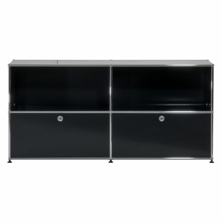 USM HALLER - Sideboard mit 2 Auszügen | Schwarz