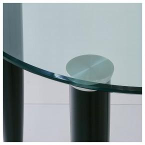 Designtisch mit runder Glasplatte