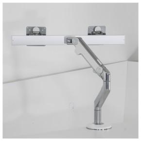 """HUMANSCALE """"M8 DUAL"""" - Monitorhalterung mit Tischklemme"""
