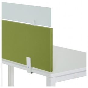 KÖNIG + NEURATH - Tischtrennwand mit Glasaufsatz